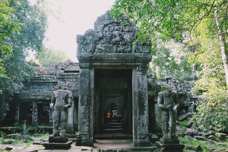 Ancient Ancient Civilization Angkor Wat Archaeology Architecture Building Exterior Built Structure Cambodia Carving - Craft Product History Human Representation Nature No People Old Ruin Outdoors Place Of Worship Religion Sculpture Spirituality Statue Stone Material Tourism Travel Travel Destinations Tree