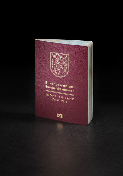 Finnish (Finland) Passport. This is the new (2013) of the passport.