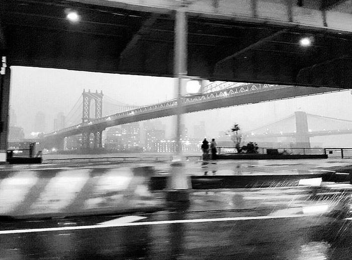Manhattan bridge in rainy day... Bridge - Man Made Structure Architecture City Travel New York City
