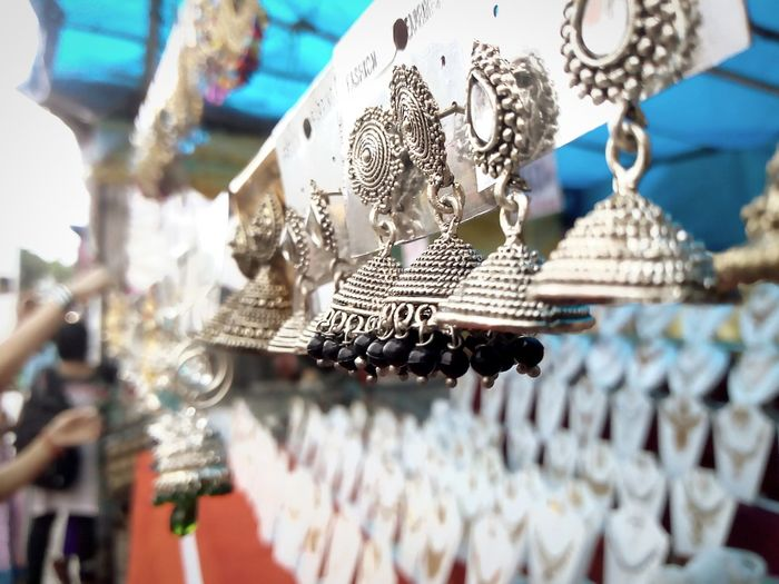 jewelries 🙈😄 The Great Outdoors - 2018 EyeEm Awards Jewelry Jewelry Store Ornaments Tribal Antique Indian Culture  Hanging City Retail  Close-up Amusement Park Christmas Market Market Stall Stall For Sale Display