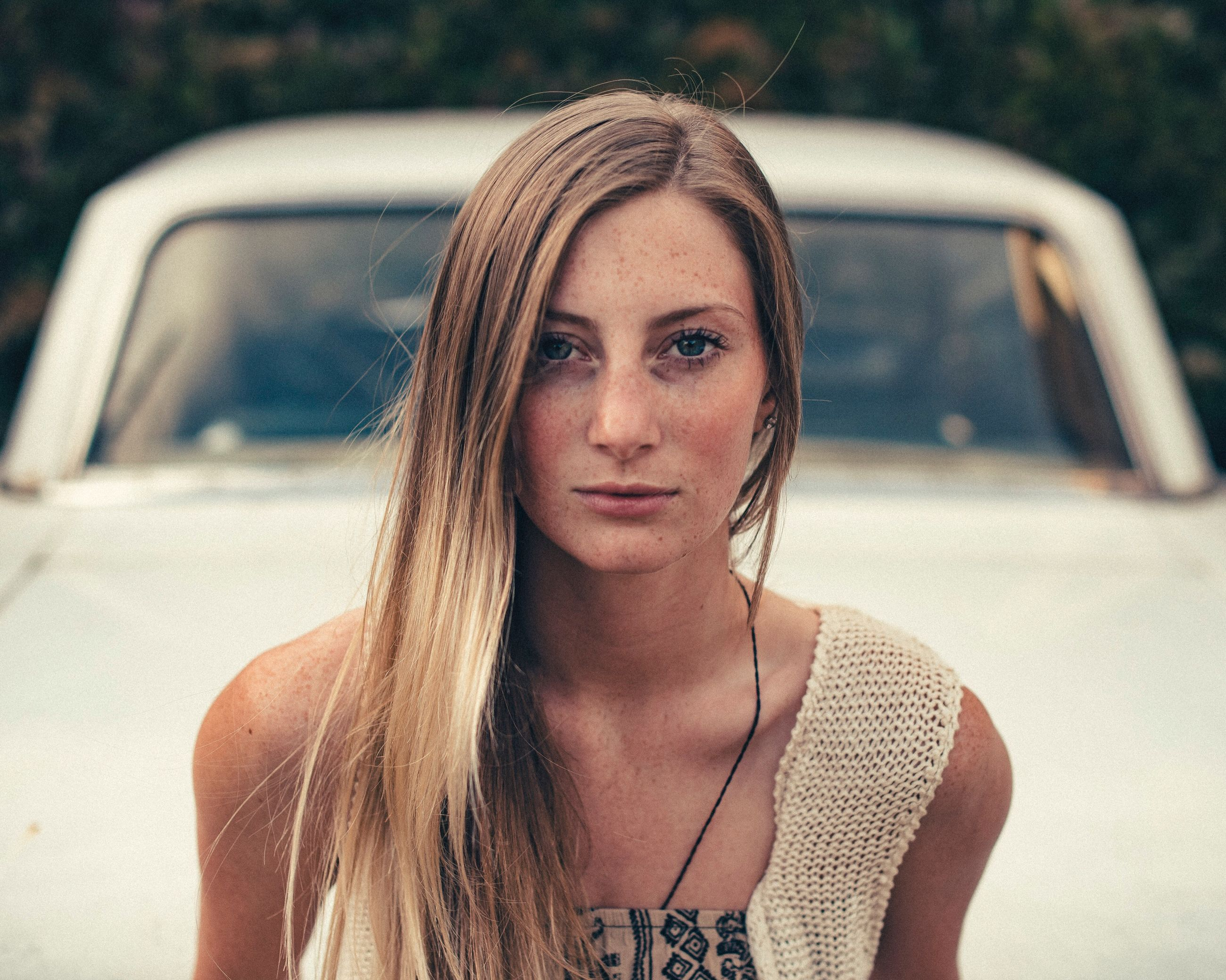 car, one person, road, outdoors, real people, young adult, day, people