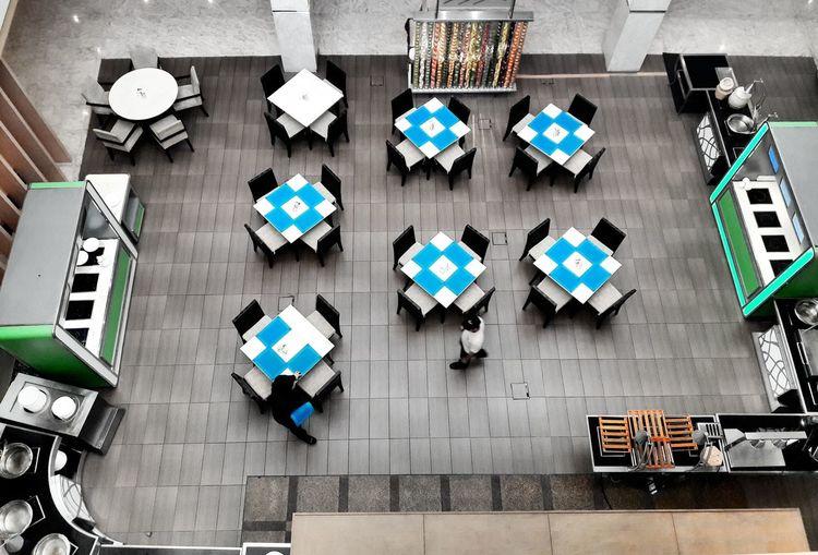 High Angle View Tables And Chairs Coffeehouse Setupfortheday