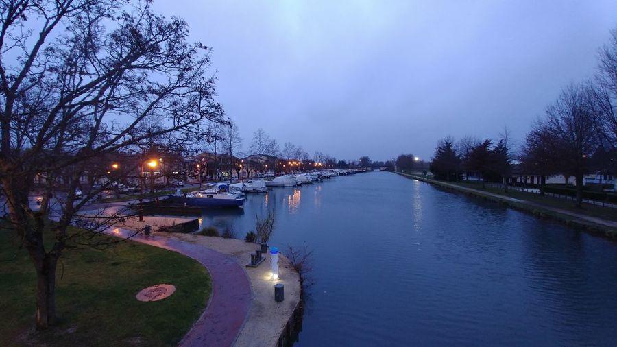 canal du midi Canal Du Midi Port Harbor Boats Nightphotography