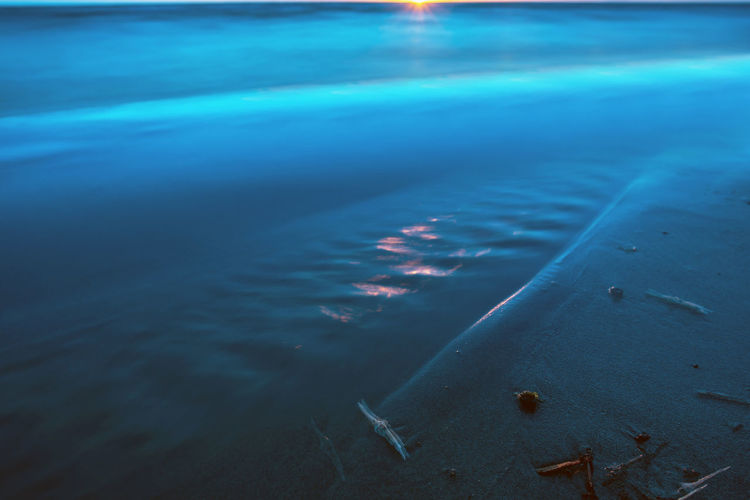 Blue water Baltic Sea Beach Beauty In Nature Blue Blue Water Day High Angle View Land Long Exposure Motion Nature No People Outdoors Reflection Rippled Sand Scenics - Nature Sea Seaside Tranquil Scene Tranquility Water Waterfront