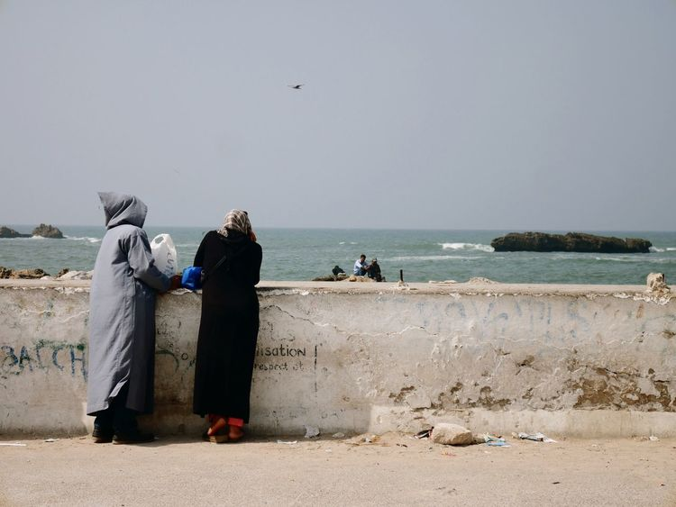 Looking the seaside in Morocco