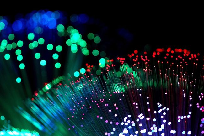 Illuminated Lighting Equipment Fiber Optic Defocused Night Glowing Technology Multi Colored Pattern Vibrant Color Electricity  Spotted Abstract Cable Close-up No People Black Background Red Futuristic Computer Cable Fiber Optic Cable Fiberglass Fiber Optics