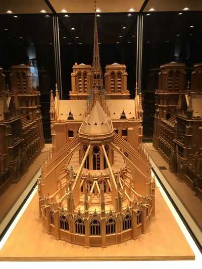 Wooden Notre Dame Wood Notre Dame Cathedral France Paris Maqueta