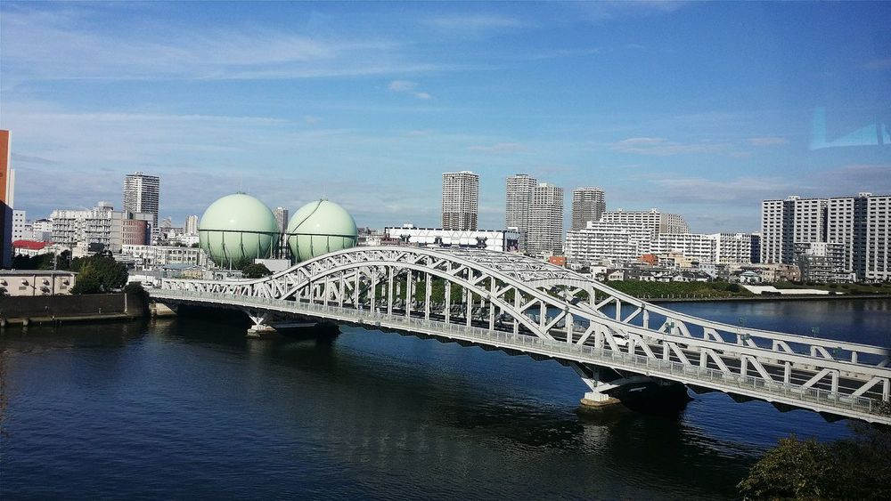 Beautiful Day Tokyo Daytripout Coachtravel Bridge Sumidariver 27km 26 Bridges Buildings Tokyo_architecture Architecture_collection Architecturephotography Architecturelovers Architecture Japan Travelphotography