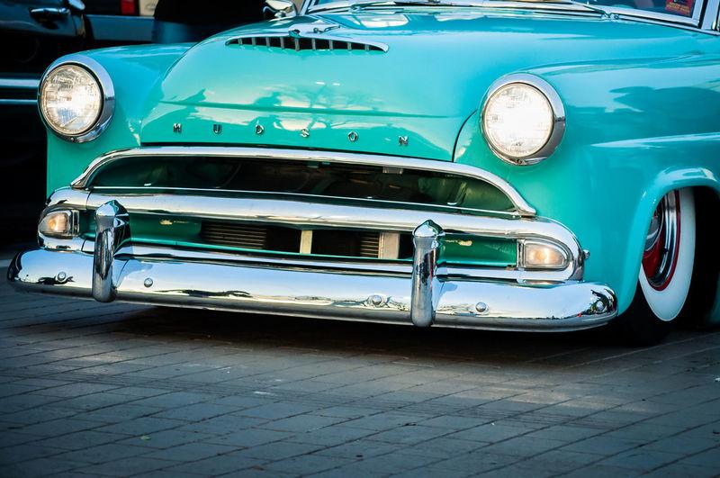 View of vintage car on street