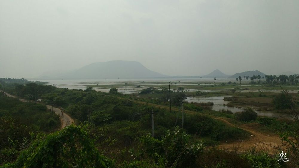 How Do We Build The World? Reservoir Water Lake View Visakhapatnam Motography Eye4photography  EyeEm Nature Lover Moto G3 Photography Foggy Day Greenary Plants And Trees