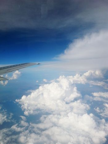 Up In The Sky Up In The Clouds Airplaneview AirPlane ✈ Sky And Clouds Sky Photography Cottoncandyclouds Cotton Candy Clouds  White Clouds And Blue Sky Blue Sky Airplane Window View