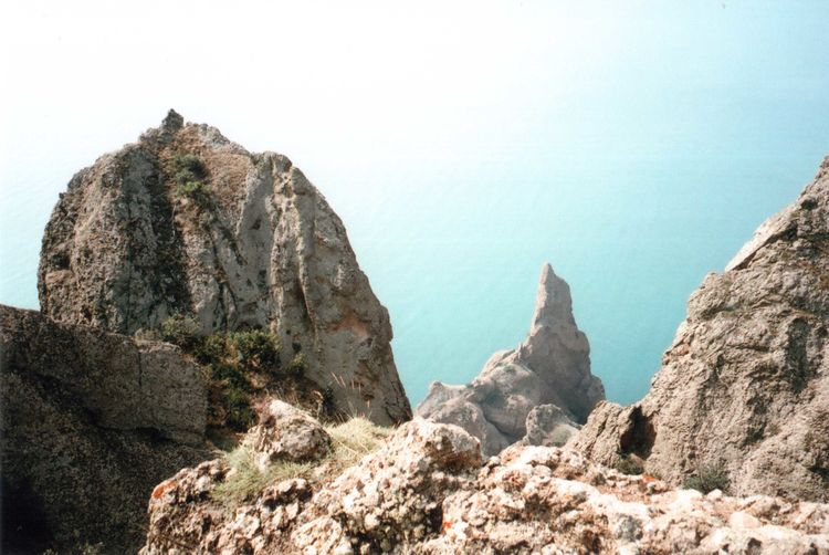 35mm Beauty In Nature Blue Cliff Colour Of Life Crimea Film Geology Idyllic Landscape Mju2 Mjuii Mountain Nature Olympus Outdoors Rock Rock Formation Rocky Rocky Mountains Sea Travel Traveling