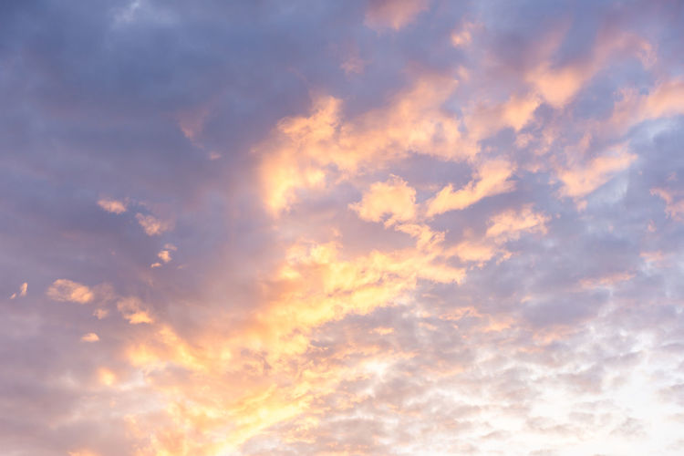 Cloud - Sky Sky Sunset Scenics - Nature Nature Backgrounds Cloudscape Beauty In Nature Tranquility Low Angle View Dramatic Sky No People Environment Tranquil Scene Sunlight Idyllic Orange Color Outdoors Atmosphere Wind Abstract Backgrounds Abstract Meteorology Bright