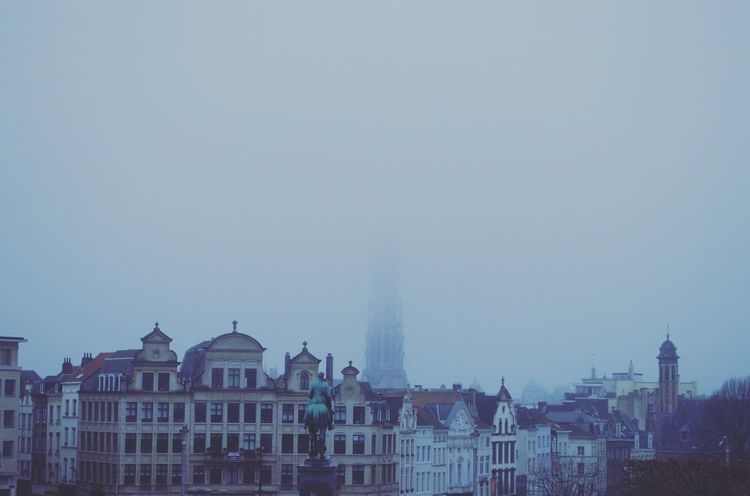 Mont des Arts Brussels Belgium Fog First Eyeem Photo Montdesarts Showcase: February Cloudy City Sky Foggy