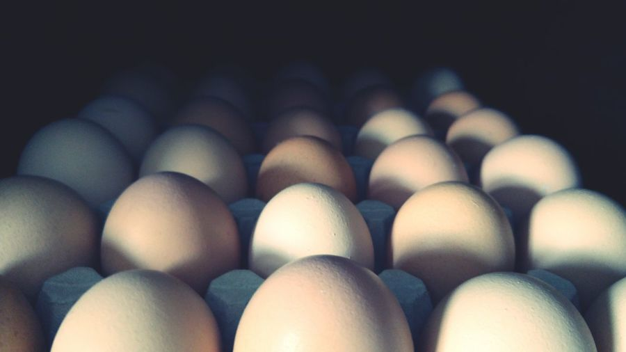 Eggs Egg In A Row Egg Carton Food And Drink Food No People Indoors  Close-up Black Background First Eyeem Photo Alignment Healthy Eating Freshness Day
