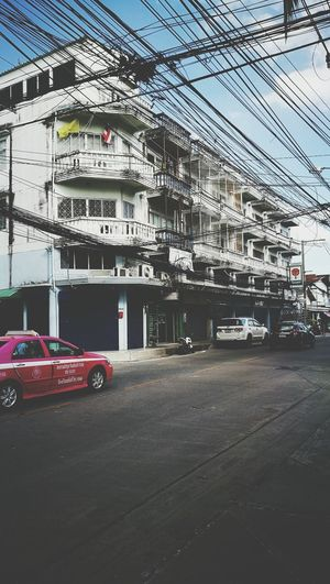 Thailand Thai Thailand_allshots Street Sky Sky And Clouds Cables Cables And Wires Housedesign Cars