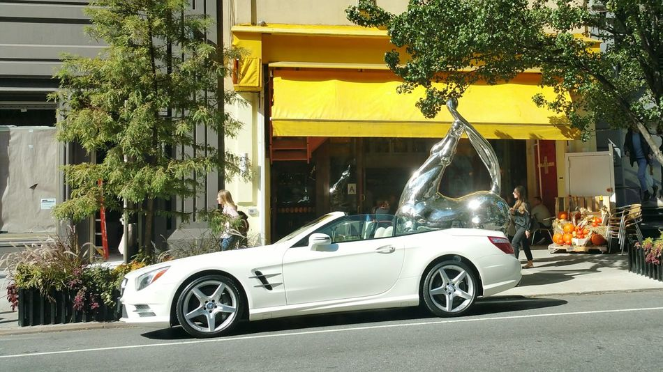Gangsters Paradise NYC Photography Luxury Car in front of Fancy Restaurant (downtown ciriani) Street Photography Colors Popular EyeEm Gallery Popular Photos Horse Sculpture The Drive