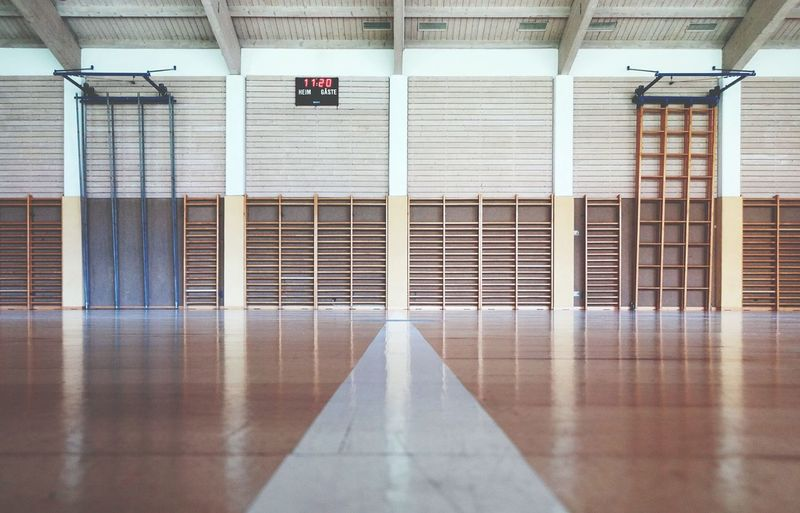(My former) High-School gym, 20 years later. Highschool Gym Geometric Shapes Architecture Open Edit The EyeEm Facebook Cover Challenge Streetphotography Urban Geometry Empty Places Deceptively Simple Here Belongs To Me Seeing The Sights Interior Views The Architect - 2016 EyeEm Awards The Street Photographer - 2016 EyeEm Awards Market Bestsellers July 2016 The Color Of Sport Minimalist Architecture