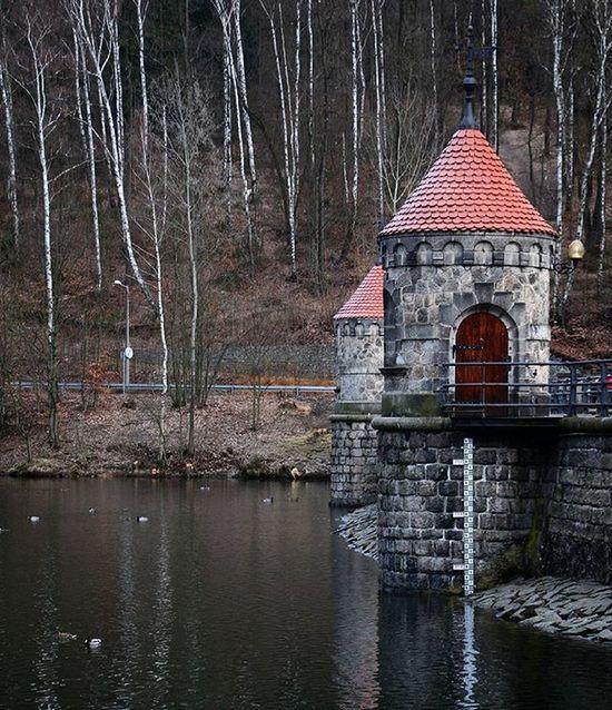 Czechrepublic Liberec Prehrada Barrage Winter