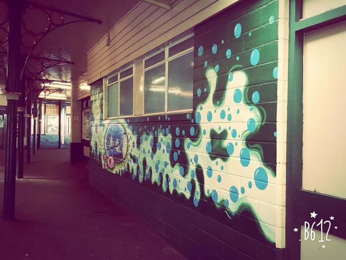 On The Wall Station Historical Building Pixelated Architecture Built Structure Street Art