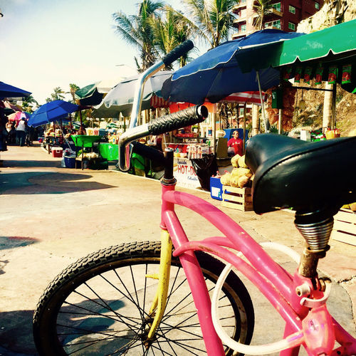 Just an every day snapshot of what it's like to ride through Mexico. Coastal Life Market Mazatlan Mexico Street Life Travel Travel Photography Architecture Bicycle City Close-up Day Land Vehicle Mode Of Transport No People Outdoors Stree Vendor Street Street Food Street Photography Streetphotography Transportation Travel Travel Destinations EyeEmNewHere