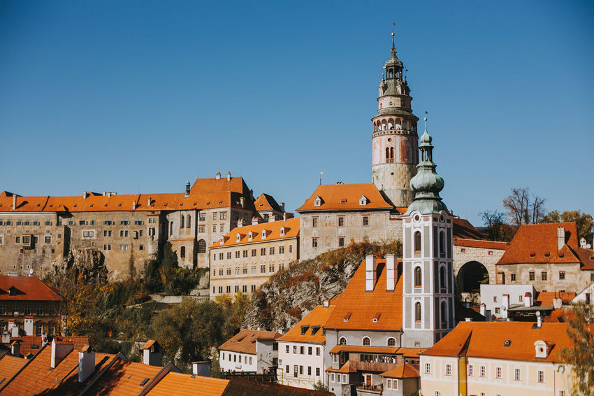 Castle Czech Republic Architecture Belief Building Building Exterior Built Structure Canon City Clear Sky Europe History Nature Place Of Worship Religion Sky Spire  Spirituality Tourism Tower TOWNSCAPE Travel Travel Destinations Český Krumlov