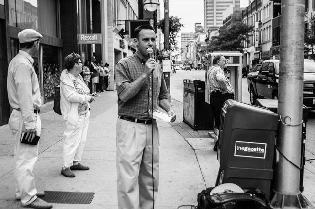 Taking Photos Canada Photooftheday Streetphotography Preacher Man Sermon Ldnont Downtown London Ontario Downtown