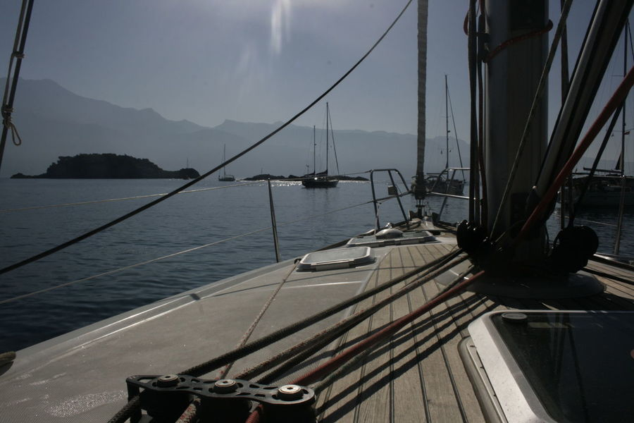 Sailing Ship Blue Sky Lazy Day Outdoors Sea And Sky Sunlight Welcome Aboard ägaisches Meer ägäische Inseln