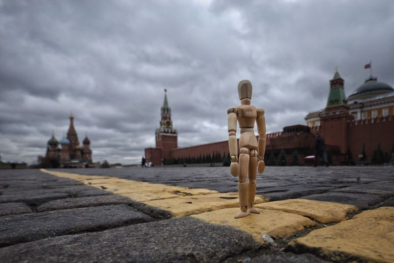 In the heart of Moscow Red Square Moscow Architecture Cloud - Sky Building Exterior History Travel Destinations Woodyforest Low Angle View Outdoors Human Representation Creative Photography