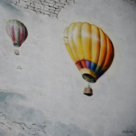 #budapest #citylife #colorful #colorfulcity #europe #graffiti  #hungary #Streetart #wallpainting Ballooning Festival Celebration Close-up Day Hot Air Balloon Multi Colored No People Outdoors