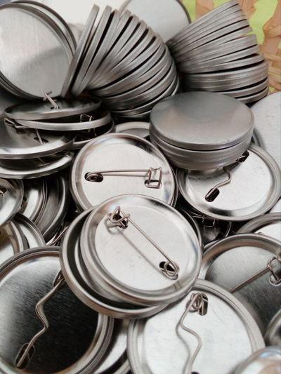 Chapas Chapa Chapas Metal Aluminum Stack Variation Group Of Objects Close-up