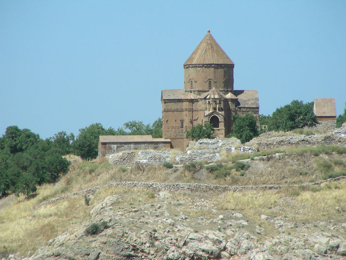 Ahtamar Island Ahtamar Architecture Armenian Church Beauty In Nature Before Building Exterior Built Structure Church Clear Sky Day EyeEm Gallery History Nature No People Outdoors Place Of Worship Religious Architecture Scenics Sky Tourist Attraction  Tours Travel Destinations Travel Photography Tree