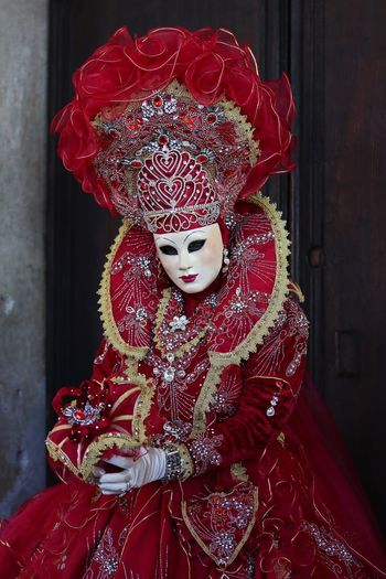 Person in costume at venice carnival
