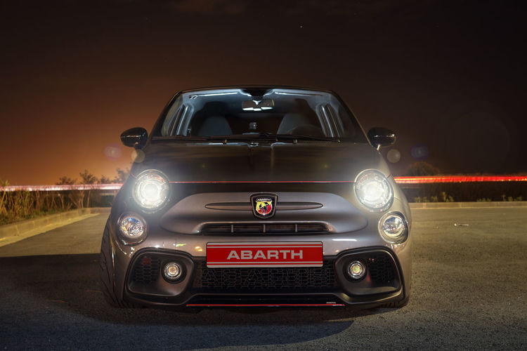 Abarth 595 competizione Mode Of Transportation Car Transportation Land Vehicle Motor Vehicle Night No People City Outdoors Street Speed Sky Abarth 595 Abarth595 Italian Motor Motorsport Passion Competizione Car Detail