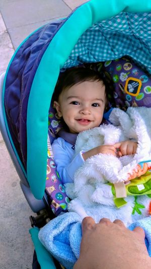 my boy Portrait Smiling Happiness Looking At Camera Childhood Cute Lying Down Baby Close-up Baby Stroller Wrapped In A Blanket Babyhood One Baby Boy Only Baby Clothing