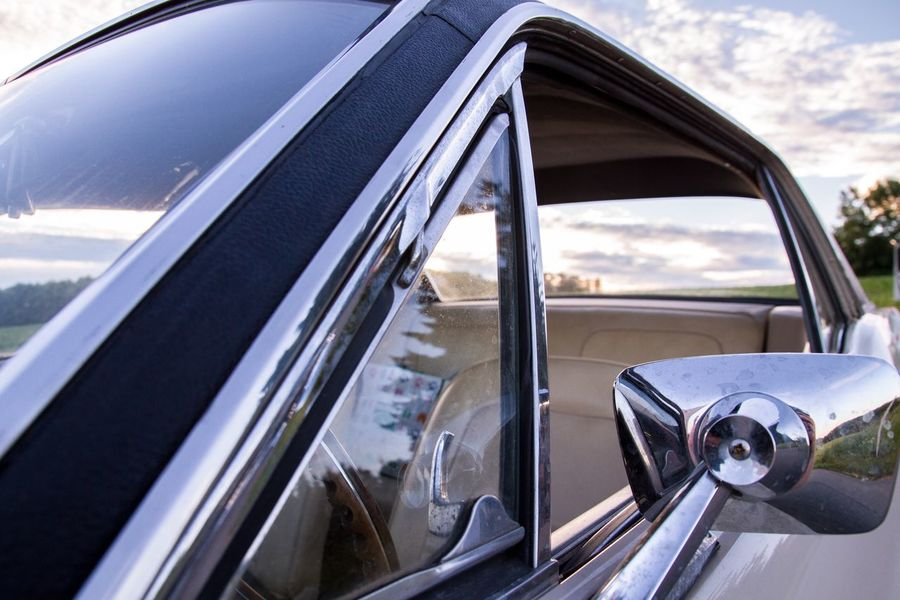 Transportation Car Side-view Mirror Day Window No People Road Steering Wheel Close-up Oldtimer Mustang