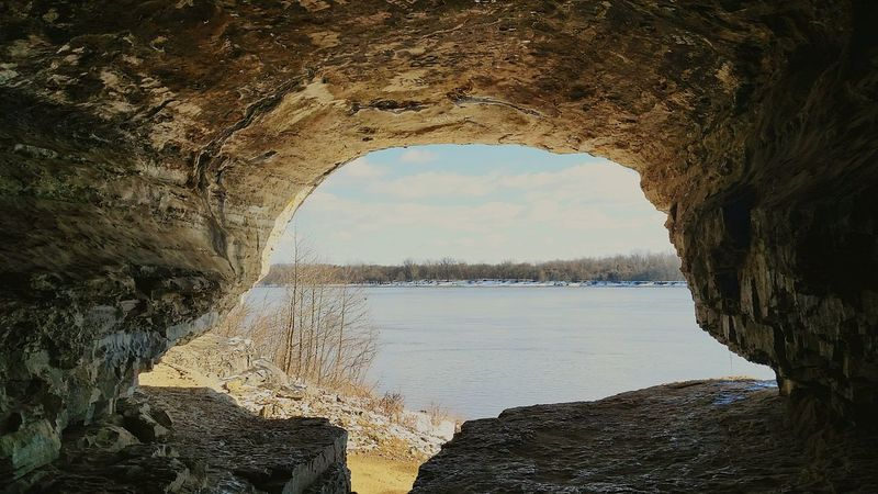 Looking over the Ohio River from the historic cave Historical Place River View No People