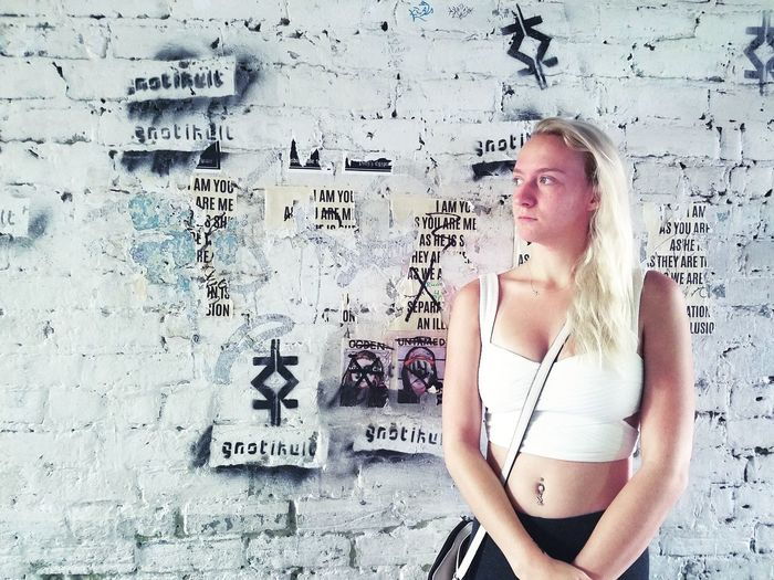 Portrait Young Women Girl Alley Lgbt Female Teenager Young Adult Formula Architecture Graffiti Spray Paint Wall Street Art Western Script Vandalism Text Worn Out Hip Hop