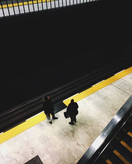 Subway Architecture Real People Group Of People Transportation High Angle View Public Transportation 17.62° Men People Travel Built Structure Indoors  Railing Rail Transportation Lifestyles Railroad Station Railroad Station Platform Mode Of Transportation Women