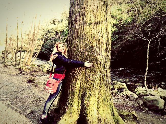 Tree Hugger Tollymore Forest Park Forestwalk Scenery Northern Ireland Nature Photography Tree Enjoying Life Riverwalk