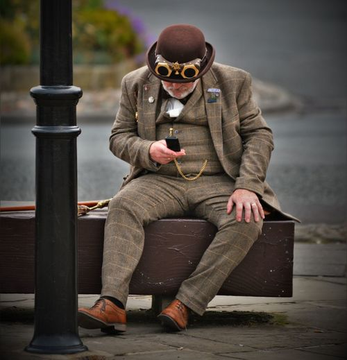 EyeEm Selects Sitting One Person Outdoors Portrait Steampunk Pocket Watch Whitby North Yorkshire Victorian Victoriana Gentlemenstyle