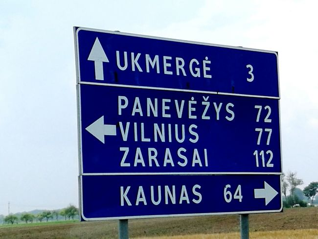 Colors Lithuania Lithuanian Girl Home City Homeland Ukmerge Road Sign Sign The Drive Traveling Home For The Holidays