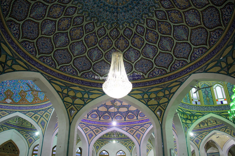 Arch Architecture Backgrounds Ceiling Cupola Day Dome Indoors  Iran Islamic Islamic Architecture Islamic Art Kashan Low Angle View Mosque Multi Colored No People Pattern Place Of Worship Religion Spirituality Texture