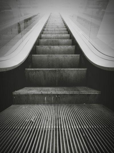 Escalera al...techo(?) :D Stairway Blackandwhite Black & White Black And White Monochrome