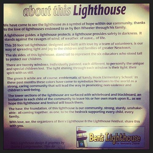 Aboutbenslighthouse Sandyhook Greenandwhite Comeoutinsupport newtownsangels lighthouse bensfavorite symbol shinelightonthedark theforeverremembered26 hope faith love angelsofsandyhook ♥😇