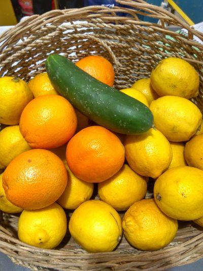 Fruit Citrus Fruit Lemon Healthy Eating Juicy Yellow Food And Drink No People Food Close-up Cucumber Orange Basket Eyeem Philippines