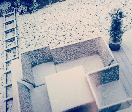 Cold Temperature Cubes Day Graphic Art High Angle View Lines Morning White Winter