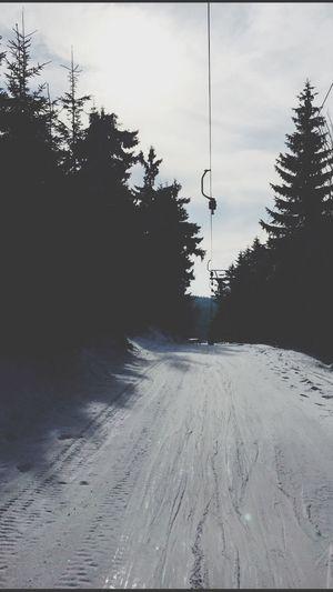 Snowboarding Snow Winter Slope Lift Jested Czech Republic