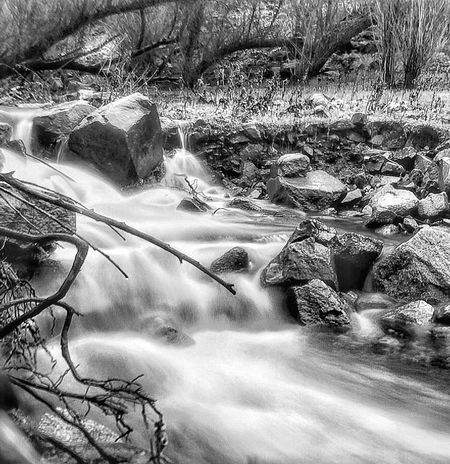 Black & White Black And White Friday Check This Out EyeEm Best Shots IPhoneography EyeEmBestPics Rushing Water Water Blur Creek Water Outdoors