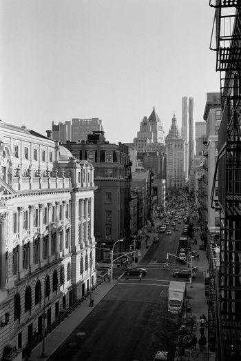 { Film } Soho, New York / Fuji GW690II, Kodak Tri-X 400 Film Filmisnotdead Fujifilm Kodak